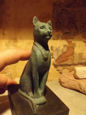 Egyptian Cat Statue / Sculpture of Bast / Bastet music goddess Joy & protection