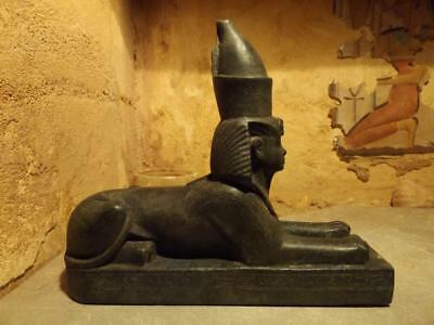 Egyptian statue replica - Amenhotep III Sphinx wearing the double crown.