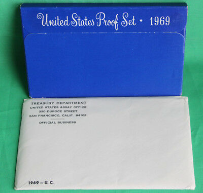 1969 Proof & Uncirculated Annual US Mint Coin Sets PDS 15 Coins 40% Silver Half