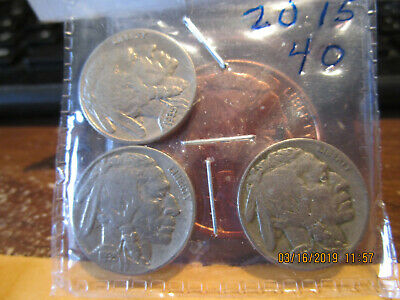 1935 P-D-S Buffalo Nickels VF/F +++/XF