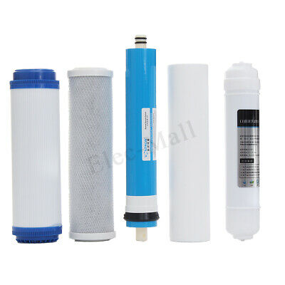5 Stage Reverse Osmosis FULL Replacement Water Filter Kit with 50 GPD