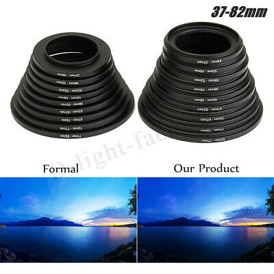 18X Step Up Down 37-82mm Rings Filter Lens Adapter Camera Stepping Metal  TOP