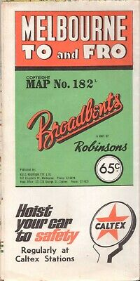 Melbourne To and Fro MAP Broadbent's Victoria 1960s or 1970s Vintage