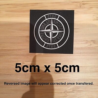 Stone Island Style Designer Logo Iron On Fabric Transfer