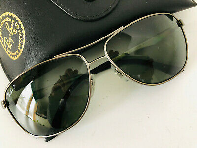 0cc5abc1e3 RAY-BAN RB 3506 029 9A Gray Silver Polarized Men s Sunglasses 64-13 ...
