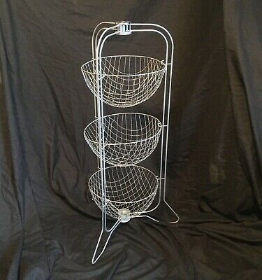 GENUINE VINTAGE HAPPY MAID  3 TIER FOLDING FRUIT VEG RACK RETRO 1950'S 76.5 cm H