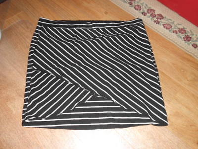1fe0c19e9a New Torrid Skirt Size 4 Black/White Plus Size Fitted Knit 4X Casual Career