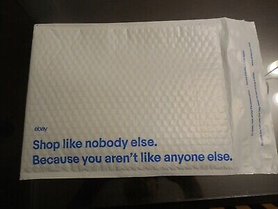 """eBay-Branded Padded Airjacket With Blue Print 9.5"""" x 13.25"""" 100 Count Case"""