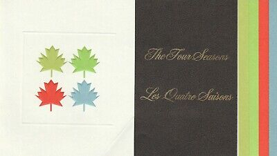 Canada Thematic Collection Scott # 5 The four Seasons