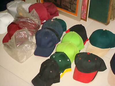 Embroidery Materials 220   Baseball Hats In Many Colours.  All New