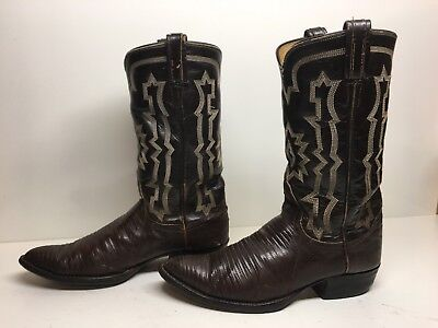 753f3902cf5 VTG MENS TONY Lama Cowboy Snake Skin Yellow/brown Boots Size 7 D ...