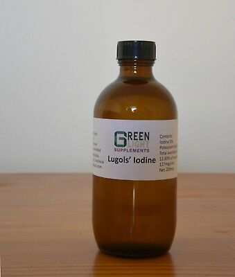 Lugol's Iodine 200mls in glass + dropper-GREEN LIGHT SUPP-10% OFF
