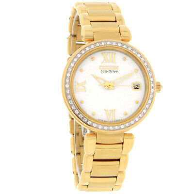 Citizen Eco-Drive Ladies Marne Series Diamond White Dial Watch EO1102-51A