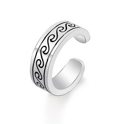 Personality New Fashion Silver Stainless Steel weave Open Ring Trend Ring