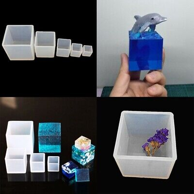 Cube Square Silicone Mold Resin Jewelry Making Mold Epoxy Pendant Craft DIY Tool