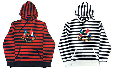 14f8d84b2 Polo Ralph Lauren CP- 93 POLO FLAGS Fleece Stripe Hooded Sweatshirt Hoodie