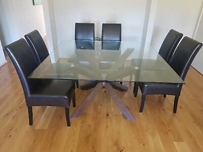 Nick Scali Dining Table With 8 Chairs