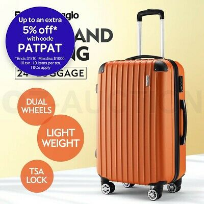 "Buonviaggio 24"" Luggage Suitcase Trolley TSA Hard Case Storage Organizer Orange"