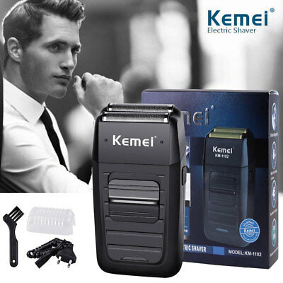 Rechargeable Men's Beard Shaver Electric Kemei Foil Comfort Series Cordless Dual