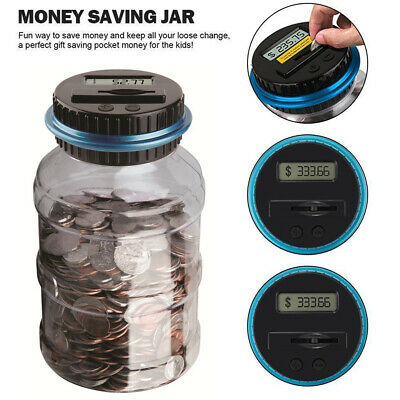 Nice Digital Coin Counting Money Box Jar Automatic LCD Display Piggy Bank Gift