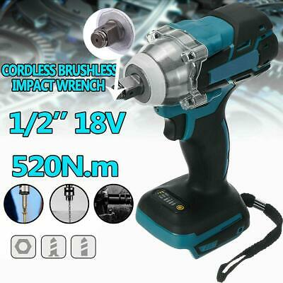 Torque Impact Wrench Brushless Cordless Replacement For Makita Battery 18V 520NM