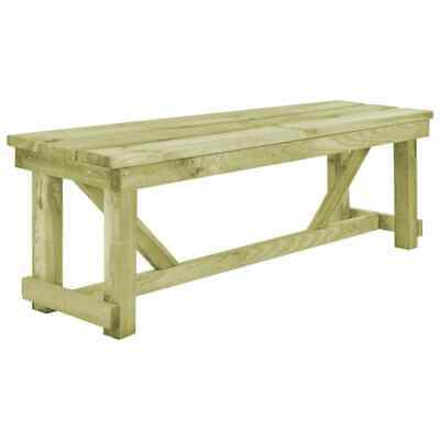 vidaXL Outdoor Bench 140x38x45cm FSC Wood Garden Backyard Patio Furniture Seat