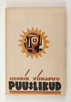 1929 Estonia Henrik Visnapuu poetry Avant Garde cover by Peet AREN Book