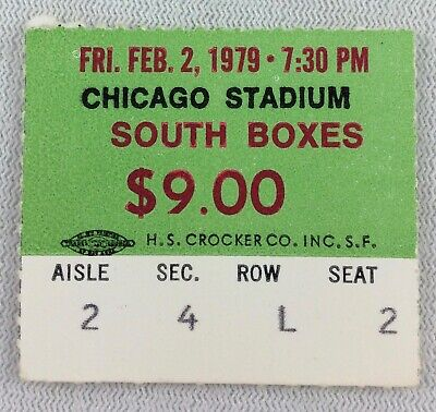 NBA 1979 02/02 Utah Jazz at Chicago Bulls Ticket Stub-Pete Maravich 18 points