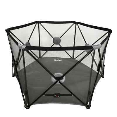 Baninni Folding Playpen Flessi Black Baby Toddler Activity Play Centre Box
