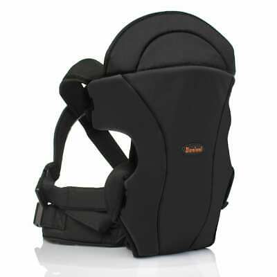 Baninni 2-in-1 Baby Carrier Sacco Black Newborn Infant Wrap Sling Backpack