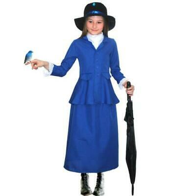 Nanny Mary Poppins Fancy Dress Costume Outfit Child World Book Day
