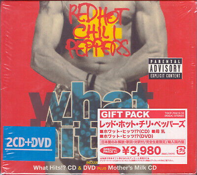 RED HOT CHILI PEPPERS: What Hits! + Mother's Milk / JAPAN Gift Pack 2-CD+DVD NEW