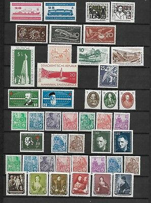 East-Germany/GDR/DDR: All stamps of 1957 in a year set complete, MNH