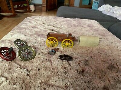 MATCHING SET OF CAST IRON TOY WHEELS FROM ANTIQUE TOY Wagon Car Lot