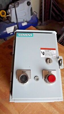Siemens 14DP12DF81 Size 1 120v HD magetic starter, Nema 3R STOP START pushbutton