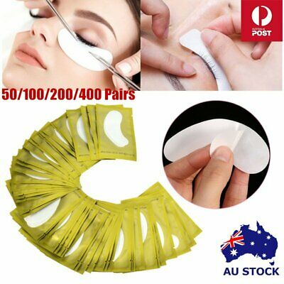50~400 Pairs Under Eye Curve Eyelash Pads Gel Patch Lint Free Lash Extension AU