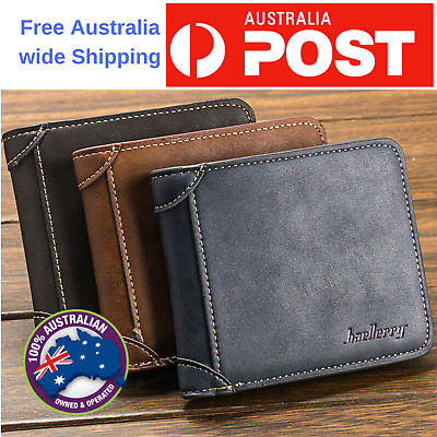 new leather man wallet Purse Multi Card slot for Men's Money bag id credit card
