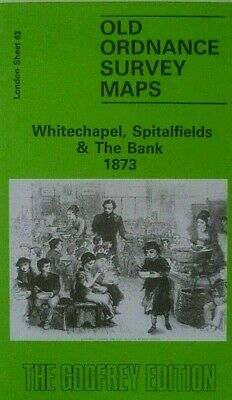 Old Ordnance Survey Maps Whitechapel Spitalfields & Bank London 1873 Godfrey Edt