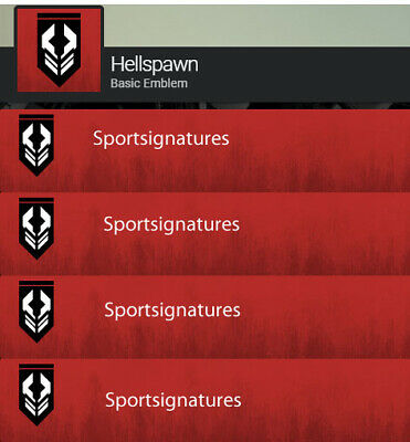 Destiny 2 Hellspawn Emblem Code In Hand PS4/PC/XBOX Same Day Delivery Bungie