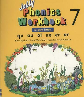 Jolly Phonics Workbook 7 by Sue Lloyd (English) Paperback Book Free Shipping!