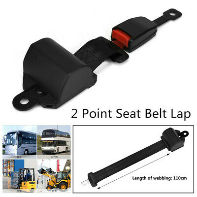 2 Point Adjustable Seat Safety Belt Harness Kit Single Double Seat Lap Seatbelt with 4 Screw Universal for Vehicle Truck Bus 2Pcs
