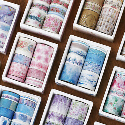 10 Rolls/Set Paper Washi Tape Decorative Scrapbooking Adhesive Sticker Craft