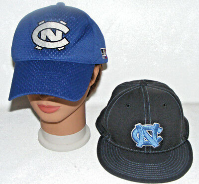 2 UNC Caps North Carolina Tar Heels Nike Drifit Fitted Basebal Hat Size ML  LOT e2c8b7eb0889