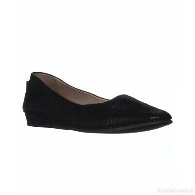 af00c4847270c French Sole FS/NY Zeppa Low Wedge Flats, Black Wave, 7.5 US,