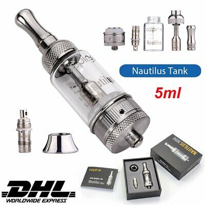 Aspire Nautilus Clearomizer Set Glastank 5ml Verdampfer Head BVC 1,6/ 1,8Ohm YS