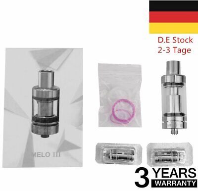 Eleaf Melo 3 Verdampfer Clearomizer 4ml Tank Atomizer Subohm Top Fill YS-Silber