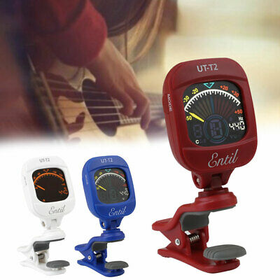 LCD Display Electric Guitar Tuner Rotating Clip On Ukulele Guitar Tuner Parts
