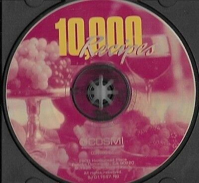 10,000 Recipes (PC CD-ROM 1996) English Cosmi Corporation Disc only