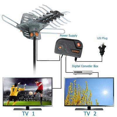 180Miles Outdoor Digital TV Antenna Amplified Motorized HDTV 1080P 4K 36dB 2019