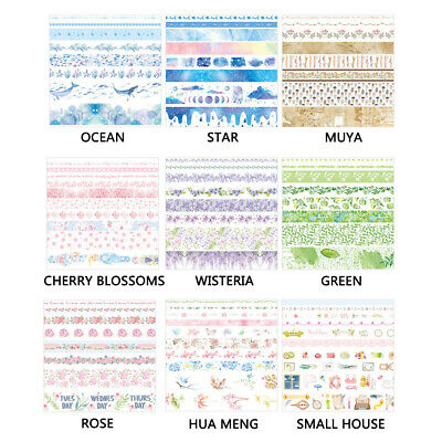 10 Rolls Washi Tape Decorative Scrapbooking Paper Adhesive Sticker Craft